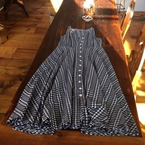 Black and white long dress size 8